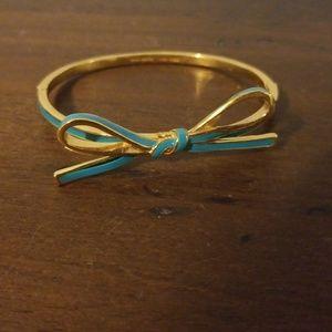 Kate Spade turquoise bow bangle